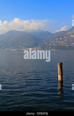 Lake Iseo near Bergamo, Lombardy, Italy, Europe. - Stock Photo