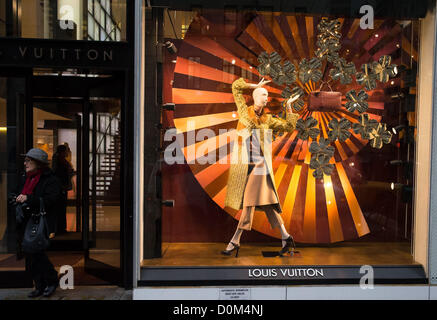 November, 27th, 2012, New York, NY, USA :  Christmas shopping begins in New York City with many famous and expensive - Stock Photo