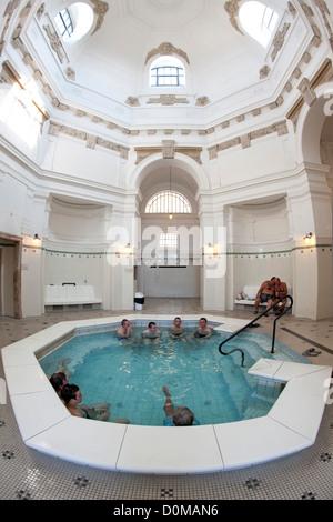 Szechenyi Baths in Budapest, the capital of Hungary. - Stock Photo
