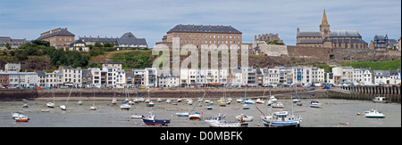 Harbour at Granville in the Manche (50) departement of France - Stock Photo