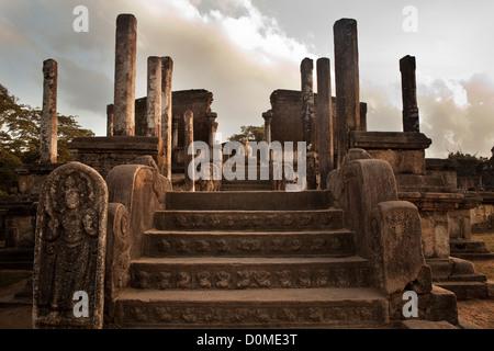 Ancient ruins of Polonnaruwa, Sri Lanka. - Stock Photo