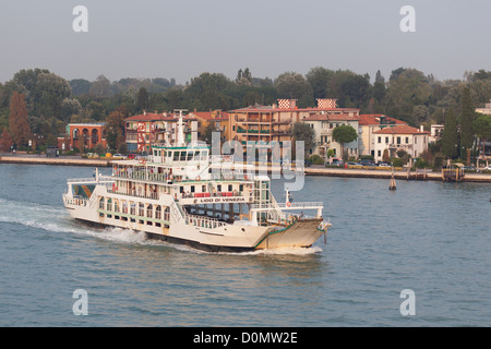 car ferries on the Grand Canal in Venice - Stock Photo