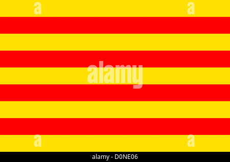 Flag of Catalonia. - Stock Photo