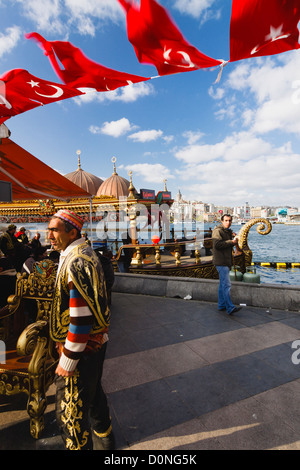 Street ambient in the Golden Horn. Eminonu-Fatih, Istanbul, Turkey - Stock Photo