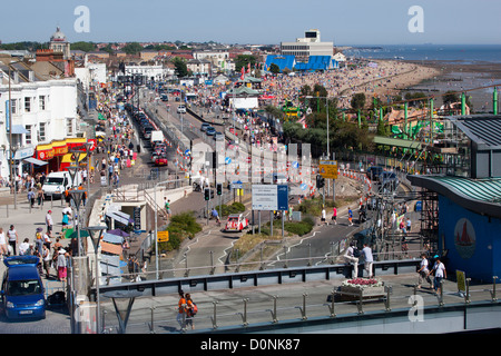 View over seafront at Southend on Sea - Stock Photo