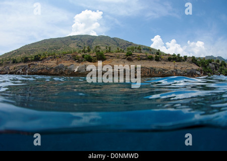 Atauro Island, as seen from the water, near Dili, East Timor. - Stock Photo