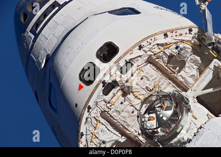 Crew Cabin of Space Shuttle Atlantis - Stock Photo