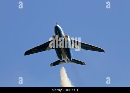 The Blue Impulse aerobatic display Japan - Stock Photo
