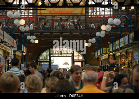 Magyar market hall, Budapest, Hungary - Stock Photo