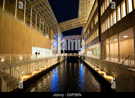 The Astrup Fearnley Museum in Oslo showcases contemporary art. - Stock Photo