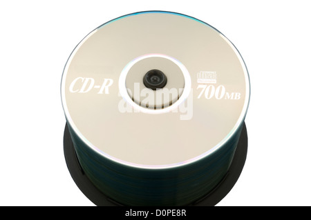 Stack of CD-R Discs - Stock Photo