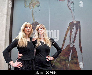 The May Fair Hotel as it unveils its spectacular designer windows by Felder & Felder in celebration of London Fashion - Stock Photo