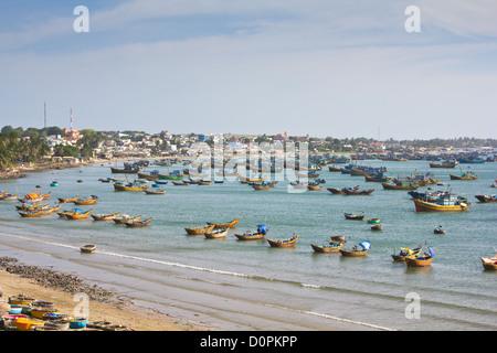 Fishing village in Mui Ne,Vietnam - Stock Photo