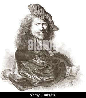 Rembrandt Harmenszoon van Rijn, 1606 – 1669. Dutch painter and etcher. - Stock Photo