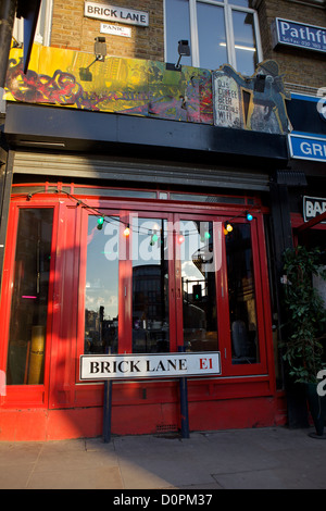 Brick Lane E1, East London, UK - Stock Photo