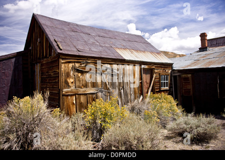 Rustic Remains in a Ghost Town - Stock Photo