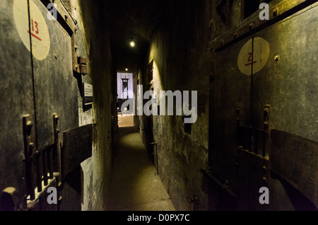 HANOI, Vietnam - View of the corridor along death row, where prisoners destined for execution were kept in isolation. - Stock Photo