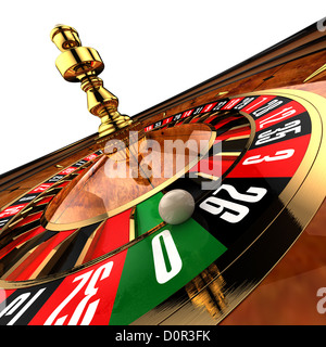 Casino Roulette on white - Stock Photo