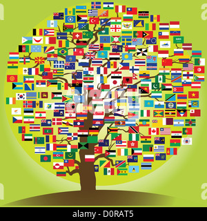 peace tree symbol of the frienship between nations - Stock Photo