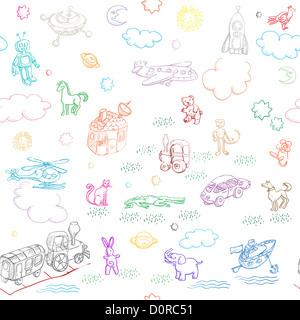 toy doodles - Stock Photo