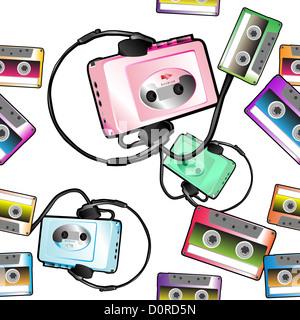 audio tape pattern - Stock Photo