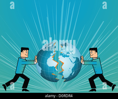 Conceptual image representing the collaboration of two companies - Stock Photo