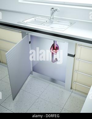 Bathroom leak stock photo royalty free image 57729427 for Leaked bathroom photos