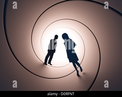 Couple  silhouettes - Stock Photo