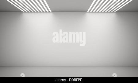 Empty room with light from above - Stock Photo