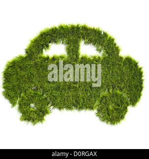 Car shaped grass patch - Stock Photo