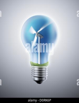 Wind energy concept - Stock Photo