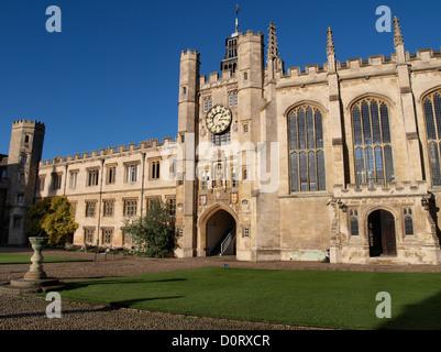 King Edward's Gate, Trinity College, Cambridge, UK - Stock Photo