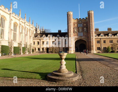 Trinity College, Cambridge, UK - Stock Photo