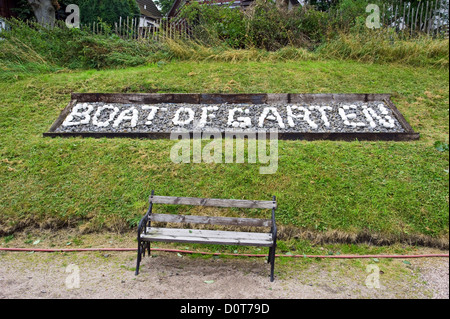 Boat of Garten station on the Strathspey Railway, Scottish Highlands, Scotland Britain UK. - Stock Photo