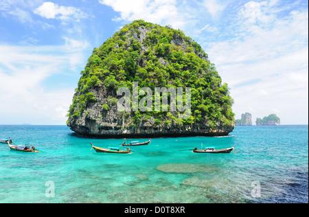 Uninhabited island - Stock Photo