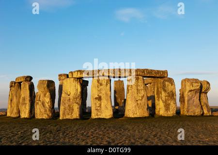 UK, United Kingdom, Great Britain, Britain, England, Wiltshire, Stonehenge, landmark, Salisbury Plain, Stone Circle, - Stock Photo