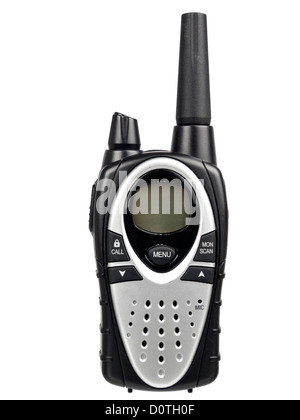 Front view of Walkie Talkie isolated on white background - Stock Photo