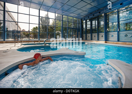 Young lady in a spa Hotel Finca Eslava Antequera Malaga Andalusia Spain - Stock Photo