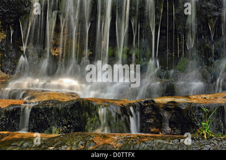 Alger Falls, Munising, Michigan, USA - Stock Photo