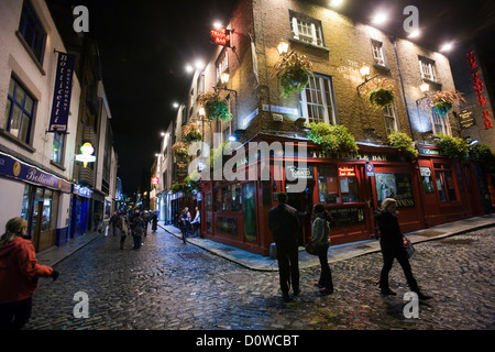 Dublin, Ireland, the pub-The Temple Bar in the Temple Bar district - Stock Photo