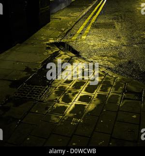 urban path at night - Stock Photo