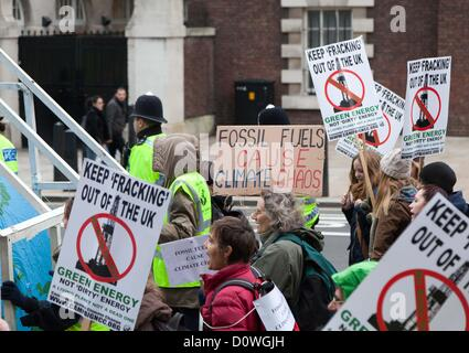 London, UK. 1st December 2012 The Campaign against Climate Change held a 'Get Fracktious' National Climate March - Stock Photo