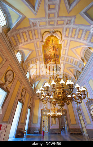 'The Room of the Bodyguards' - the second antechamber is also called the 'Room of Stuccoes' for its rich decoration, - Stock Photo