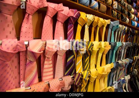 Fine silk ties - Stock Photo