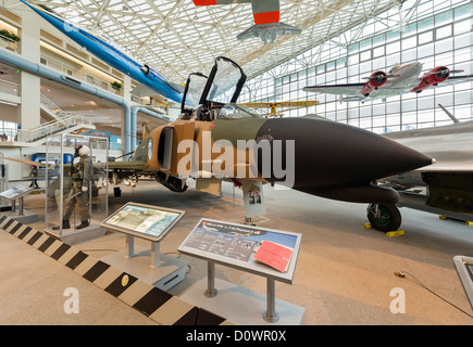 A 1965 McDonnell F-4C Phantom II fighter aircraft, The Great Gallery, Museum of Flight, Seattle, Washington, USA - Stock Photo