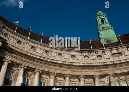 County Hall, London, Westminster, England - Stock Photo
