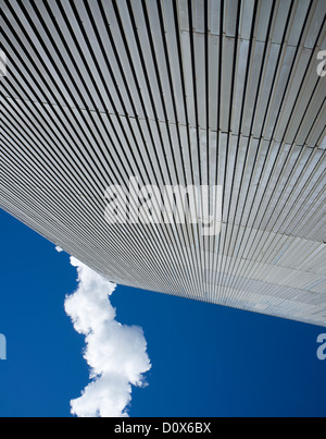 Wall made of corrugated galvanized iron sheets ( CGI ) - Stock Photo