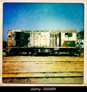 Old Train In Dire Dawa Station, Ethiopia - Stock Photo