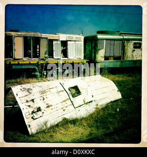 Old Djibouti Addis Ababa Train In Dire Dawa Station, Ethiopia - Stock Photo