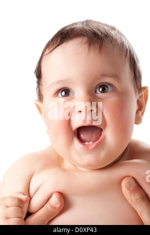 bright portrait of adorable baby - Stock Photo